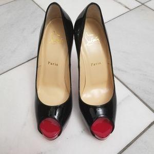 New Christian louboutin very prive peep toe heels